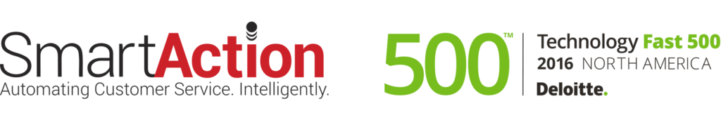 SmartAction Ranked as a Fastest Growing Company in North America on Deloitte's 2016 Technology Fast 500™
