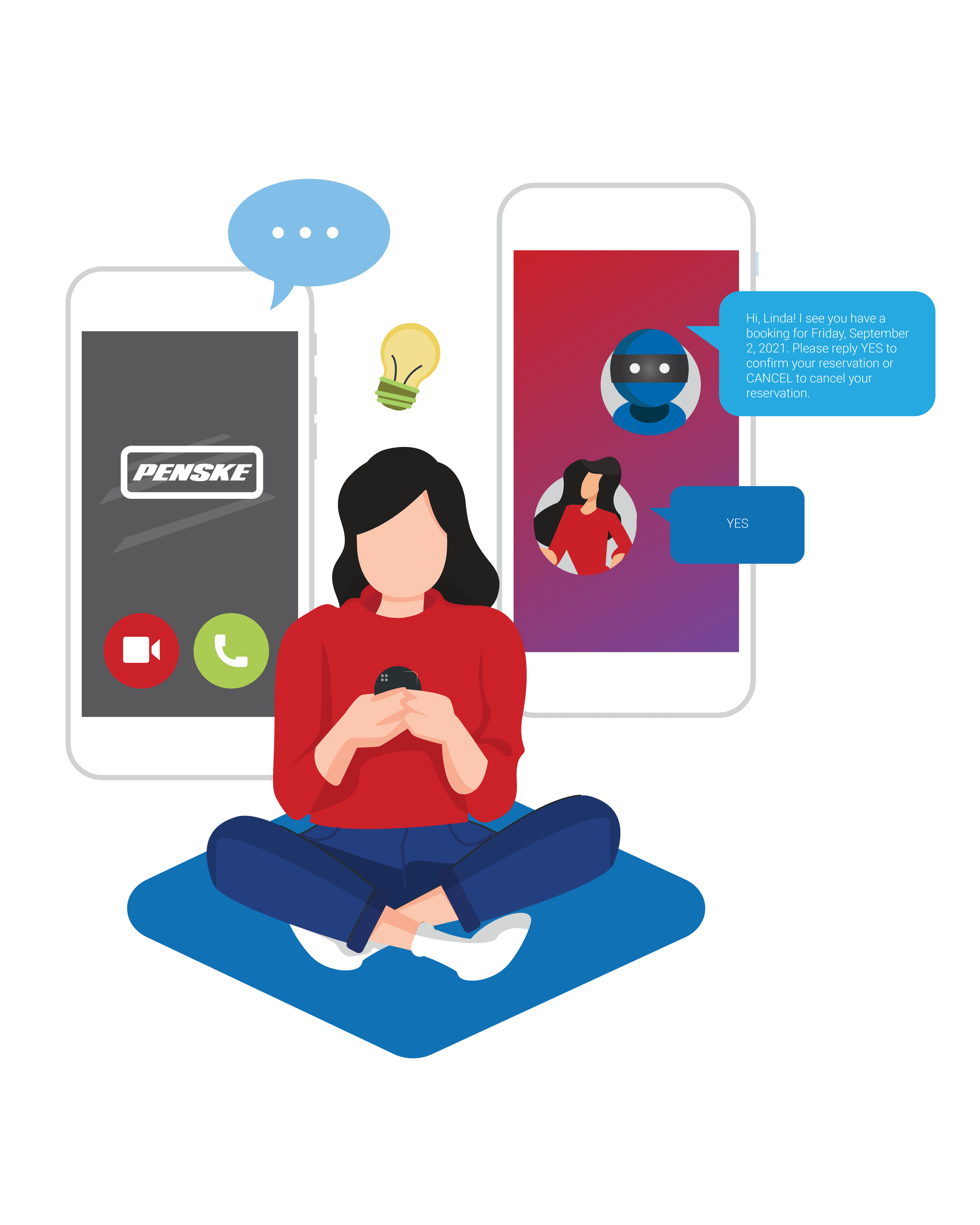 Penske trucking uses virtual chat agent SmartAction Ai